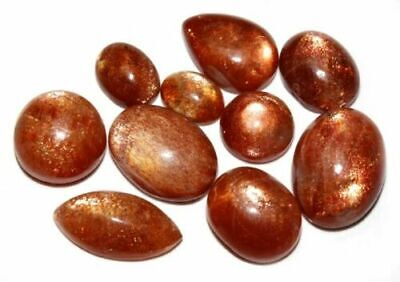 Fiery Natural Golden Oregon Sunstone MIX Cabochon Loose Gemstone Lot 40.00cts