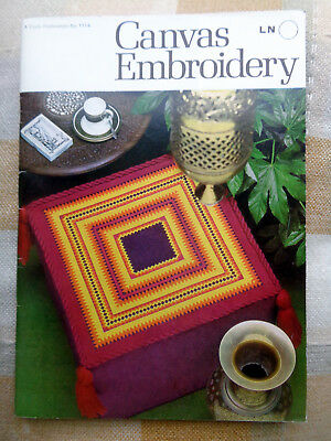 Vintage Canvas Embroidery Booklet Coats No 1114