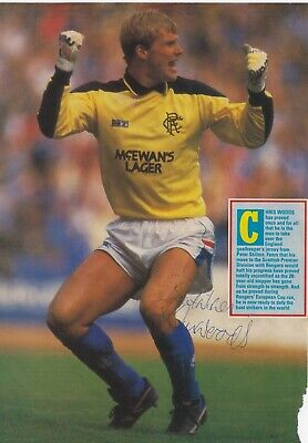 CHRIS WOODS (Glasgow Rangers & Norwich City FC) Hand SIGNED A4 Poster