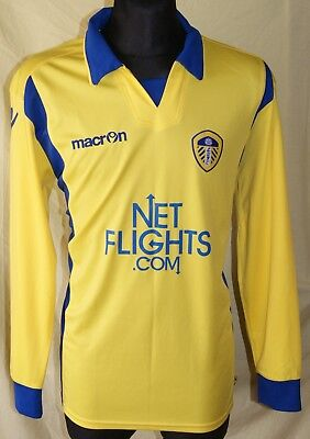 Long Sleeves L/S Leeds United Away football shirt 2009 - 2010 Size XL Excellent