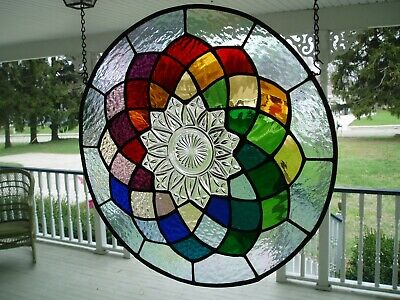 stained glass panel-12 colors