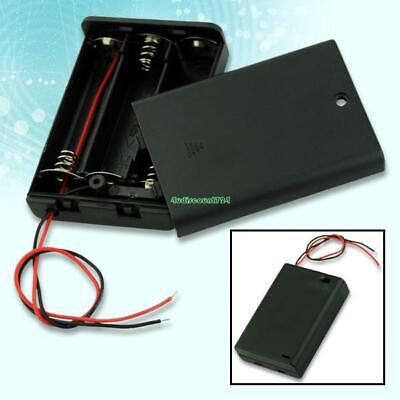 Black 3 AA Battery Holder Box Case With Switch EE4068 5381491