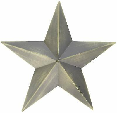"Country House Vintage Style Indoor Hanging Metal Barn Star 12"" SET OF 3"