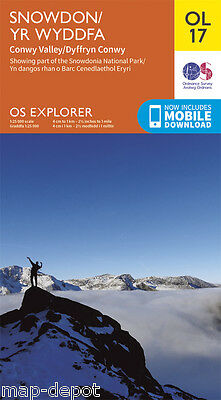 SNOWDON EXPLORER Map - OL 17 - Ordnance Survey - *NEW* inc. MOBILE DOWNLOAD