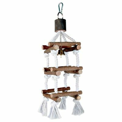 NEW TRIXIE Gantry Ladder Frame Parrot Bird Toy with bell natural large -  34cm