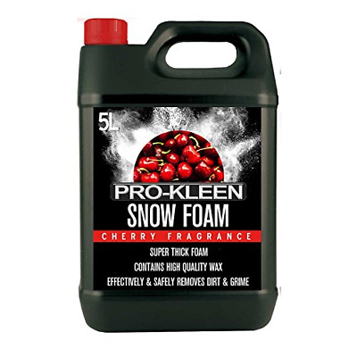 5L of Pro-Kleen Cherry Snow Foam with Wax – Super Thick & Non-Caustic Foam – &