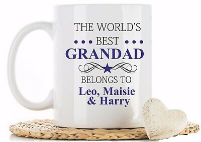 Personalised Worlds Best Grandad Dad Uncle Godfather Granpa Mug Cup fathers Day