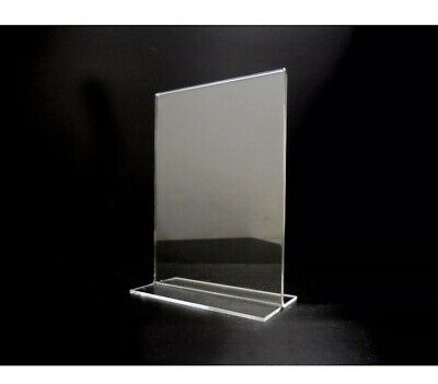Acrylic Sign Holder 5 X 7 (lot Of 6)