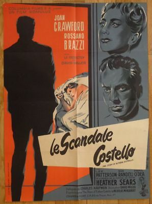 LE SCANDALE COSTELLO Joan Crawford 1957 Affiche Originale 60x80 Vintage Poster
