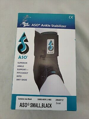 Med Spec ASO Black Ankle Stabilizer Brace Lace Up Size Small New L or R Foot