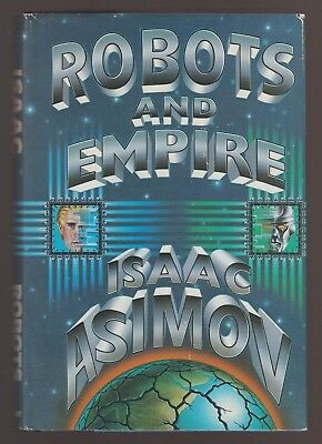 FINE 1985 HC DJ First Edition first Printing Robots and Empire by Isaac Asimov