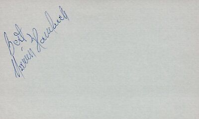Marvin Hamlisch Composer Conductor 1975 Film Music Autographed Signed Index Card