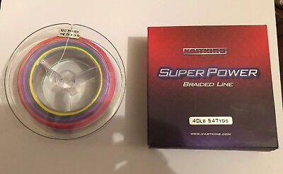 KastKing SuperPower Braided Fishing Line Strong Superline No Stretch 40LB 547YDS