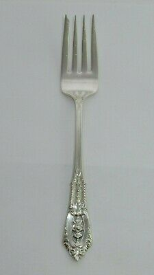 "Vintage WALLACE *ROSE POINT* Pattern, Sterling Silver, 6 3/8"" Salad Fork, 36g"
