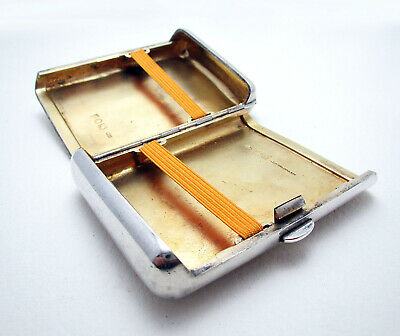 Unusual ANTIQUE Victorian Solid Sterling Silver English Cigarette Cigar Case Box