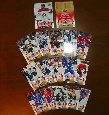 2014-15 Upper Deck National Hockey Card Day Canada 17-Card Complete Set