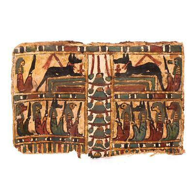 * A good Egyptian Polychrome Cartonnage Panel, Late Period, ca. 664 - 332 BC