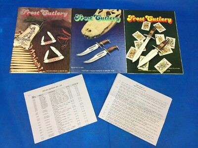1989 1990 1991 1992 Frost Cutlery Catalog & Supplements Vintage