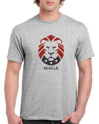MAGA Lion Make America Great Again Trump 2020 men's gray t-shirt sizes S-3XL