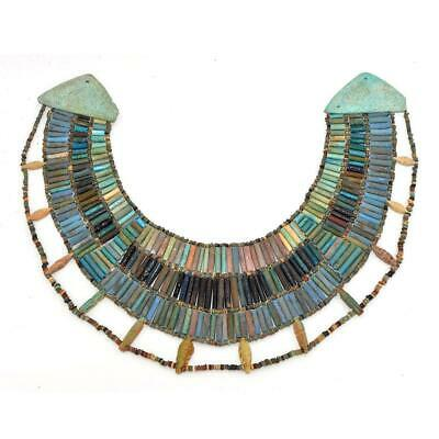 A rare Egyptian Faience Broad Collar Necklace, Late Old Kingdom, ca. 2345–2181 B