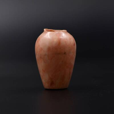 A fine Egyptian Pink Limestone Cosmetic Jar, Middle Kingdom, ca 2040-1786 BCE