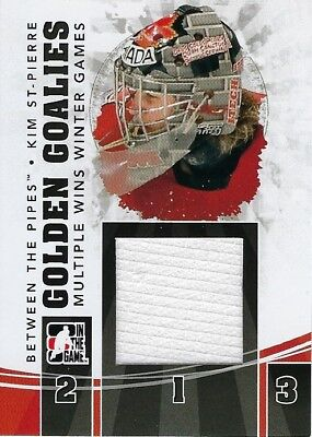 2010-11 In The Game Between The Pipes Golden Goalies Black Kim St-Pierre #GG-02
