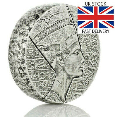 🇬🇧2017 Queen Nefertiti 5-Ounce Silver Coin GIFT INVESTMENT Free Fast Delivery!