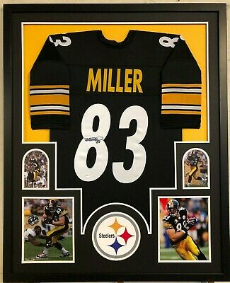 a88510020c5 Framed Pittsburgh Steelers Heath Miller Autographed Signed Jersey Tse Coa