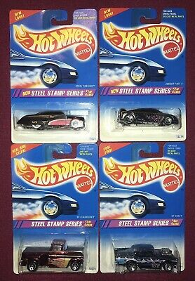 HOT WHEELS Steel Stamp Series Set-Minty with White Wall Mag Wheels on car 1