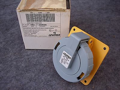 LEVITON 330R4W 30 Amp  125 Volt  PIN & SLEEVE RECEPTACLE  IP67  WATERTIGHT