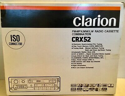 CLARION CRX52 Radio Cassette combination NEW IN Original BOX