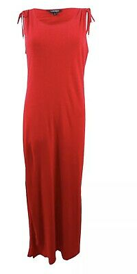 Lauren Ralph Lauren Women's Red Long Dress Size Large 954001 MSRP $135 NWT