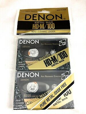 Pack of 2 NEW DENON  HD-M 100 METAL CASSETTE TAPES
