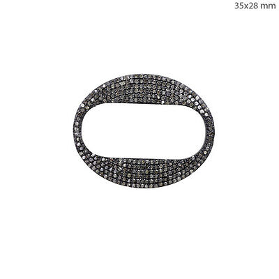 Natural 1.51 Ct Diamond Pave 925 Sterling Silver Fine Bracelet Connector Finding