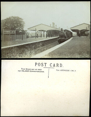 Antique Rp Postcard~Stourbridge Junction~West Midland Railway Station~Loco Photo