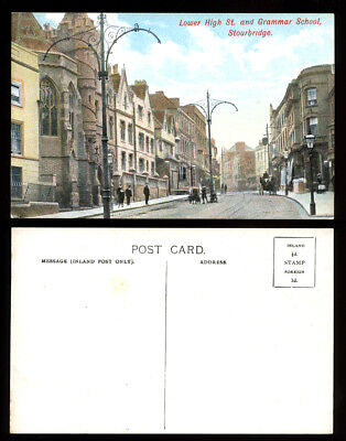 Antique Postcard~Lower High St. Grammar School Stourbridge~Dudley/Worcestershire