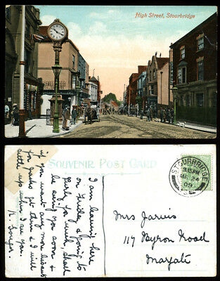 Antique Postcard~Stourbridge High Street~Worcestershire~Jarvis/Margate Int.