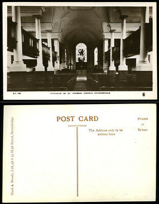 Antique Rp Postcard~Interior St. Thomas' Church Stourbridge~Worcestershire Photo