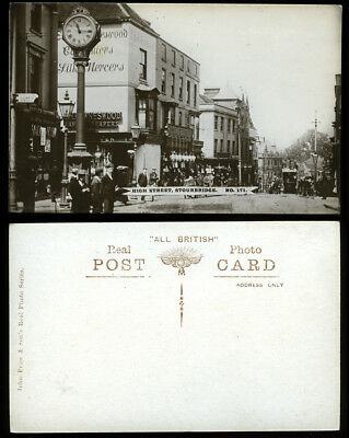 Real Photo Postcard~Stourbridge High Street~Dudley/West Midlands/Worcestershire