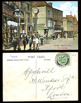 Antique Postcard~Central High St Stourbridge~Worcestershire~Savilll/Ilford Int.