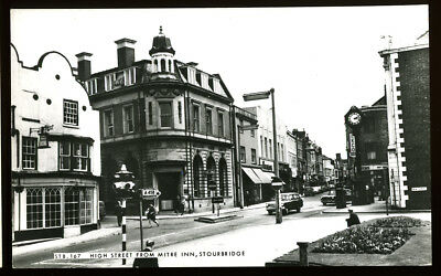 Real Photo Postcard~Stourbridge High Street From Mitre Inn~Dudley/West Midlands