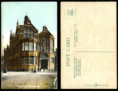 Antique Postcard~Free Library Stourbridge~Dudley/West Midlands/Worcestershire