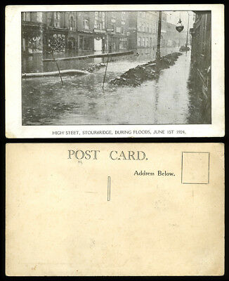 Postcard~Stourbridge During Floods 1924~Dudley/West Midlands/Worcestershire