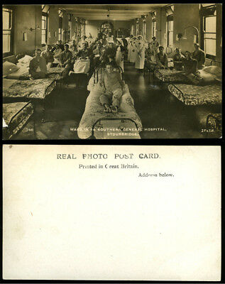 WW1 PHOTO POSTCARD~1st SOUTHERN GENERAL MILITARY HOSPITAL~STOURBRIDGE~WORDSLEY