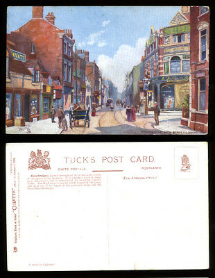 x2 POSTCARD~STOURBRIDGE HIGH STREET w/INTERSTING MESSAGE~DUDLEY/WORCESTERSHIRE