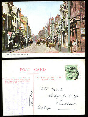 Antique Postcard~Stourbridge High Street~Dudley/West Midlands/Worcestershire #7