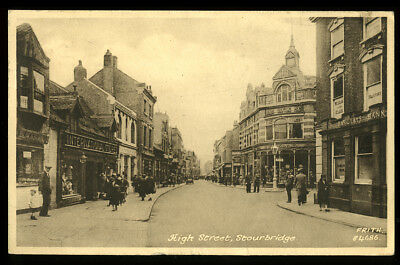 Antique Postcard~Stourbridge High Street~Dudley/West Midlands/Worcestershire #1