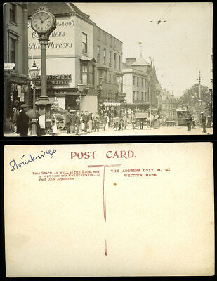 Antique Real Photo Postcard~Stourbridge High Street~West Midlands/Worcestershire