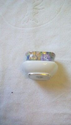PRETTY BOWL SUGAR? PARAGON BY APP  TO THE QUEEN& QUEEN MARY? 7x5 CM GOLD RIM