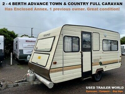 """2 - 4 Berth Advance """"Town & Country"""" 1989 Full Caravan with Annex. 1 owner!"""